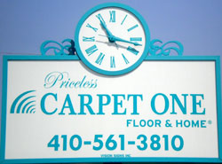 Priceless Carpet MD Sign